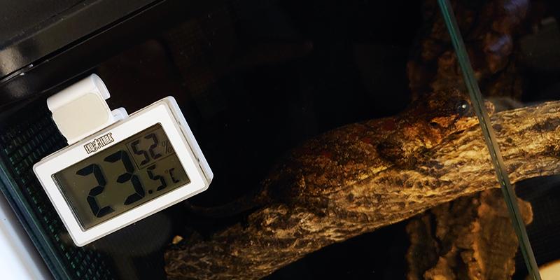 【ガーゴイルゲッコーの飼育用品】エキゾテラ コードレスデジタル温湿度計